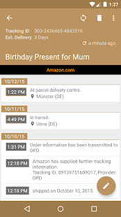 Deliveries Package Tracker- screenshot thumbnail