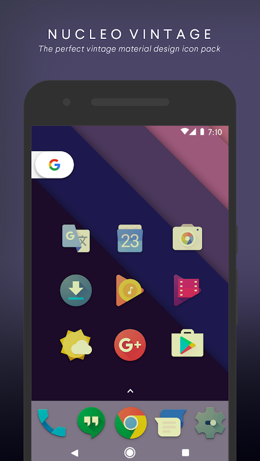 Nucleo Vintage - Icon Pack Screenshot 0