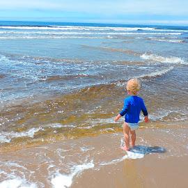 A day at the beach  by Darian Hughes - Babies & Children Children Candids ( water, sand, blue, waves, summer, beach, toddler, sun,  )