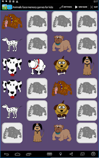 Animals face memory games - screenshot