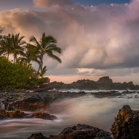 Pre-dawn Makena Bay by Andy Snider - Landscapes Beaches ( maui, blue hour, seascapes, sunrise, seascape, makena bay )