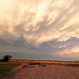 passing storm by Chrissy Woodhouse - Landscapes Cloud Formations