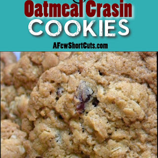 White Chocolate Oatmeal Crasin Cookies