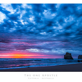 12 Apostles by Dave Blox - Typography Captioned Photos ( clouds, water, sunset, ocean, beach, 12 apostles )