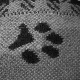 Paw Print Blanket by Kristina  Dorsett - Abstract Patterns ( abstract, paw print, blanket, patterns, cute blanket )