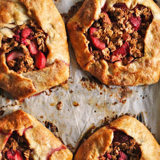 Berry Rhubarb Galette with Almond Granola Topping