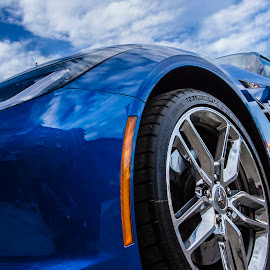 Beautiful Blue by Matthew Lemke - Transportation Automobiles ( clouds, blue sky, corvette, hdr, gorgeous, blue,  )