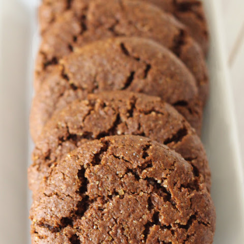 Molasses Cookies (100% whole wheat)