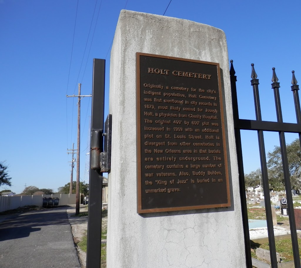 Originally a cemetery for the city's indigent population, Holt Cemetery was first mentioned in city records in 1879, most likely named for Joseph Holt, a physician from Charity Hospital. The original ...