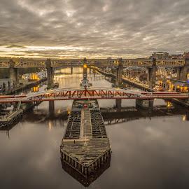 Newcastle's Bridges by Adam Lang - Buildings & Architecture Bridges & Suspended Structures ( high level bridge, gateshead, newcastle, bridge, swing bridge )