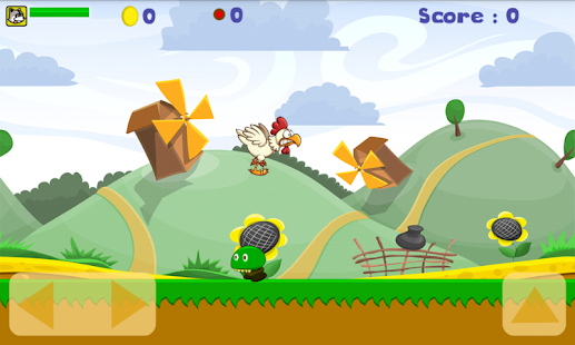 Running super chicken - screenshot