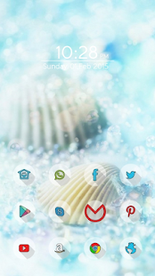 Beautiful shells theme - screenshot