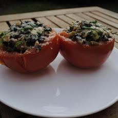 Tomatoes Stuffed with Spinach and Mushrooms