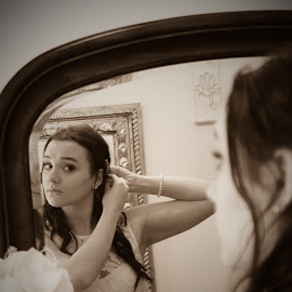 Getting ready by Shelby Lewis - Wedding Bride ( southern, moments, photography )