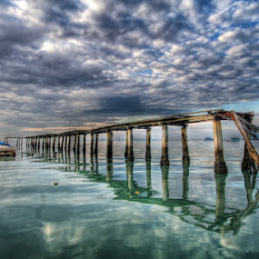 Abandoned Jetty by Danny Tan - Buildings & Architecture Other Exteriors ( hdr, penang, malaysia, jetty, seascape, surreal )