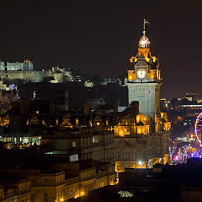 Edinburgh Christmas by Mark Holm - City,  Street & Park  Skylines