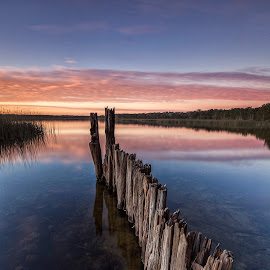 Cabarita Lake, New South Wales, Australia. by Steve Badger - Landscapes Waterscapes ( cabarita, sunset, australia, new south wales, lake )