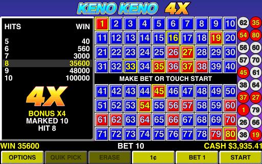 Keno Keno 4X Las Vegas Casino - screenshot