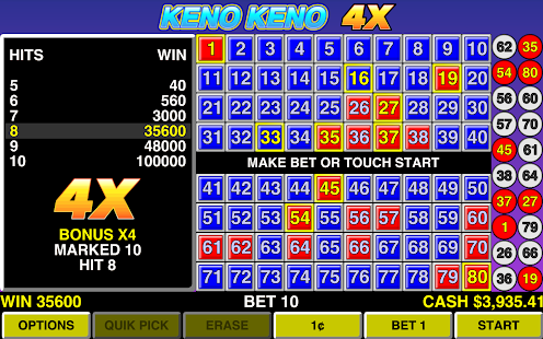 Keno Mobile Free Casino Game - IOS / Android Version