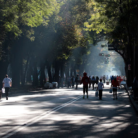 Sunday  morning by Cristobal Garciaferro Rubio - City,  Street & Park  Street Scenes ( reforma stree, mexico city, street, sunday, morning )