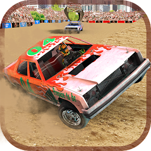 Demolition Derby Car Racing Icon
