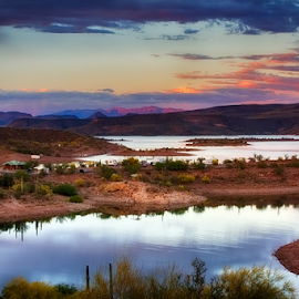 Lake Pleasant by Fred Herring - Landscapes Waterscapes