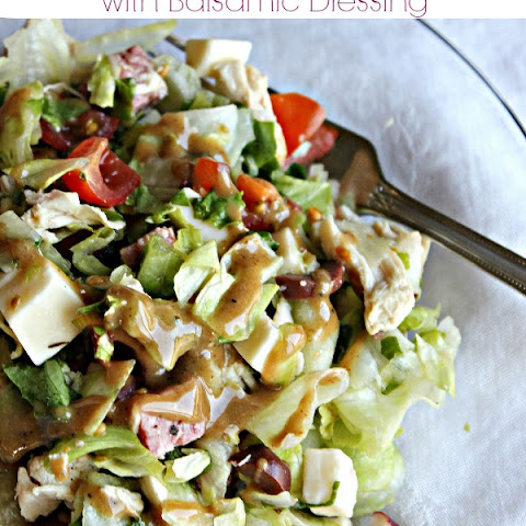 Italian Chopped Salad with Balsamic Dressing