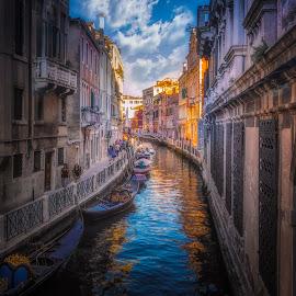 by Ole Steffensen - City,  Street & Park  Street Scenes ( street, venezia, gondola )