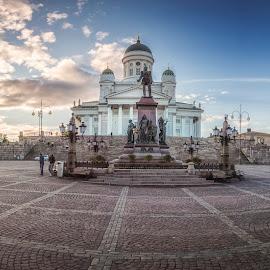 Senaatintori by Ole Steffensen - City,  Street & Park  Historic Districts ( senats square, statue, helsinki, finland, cathedral, square )