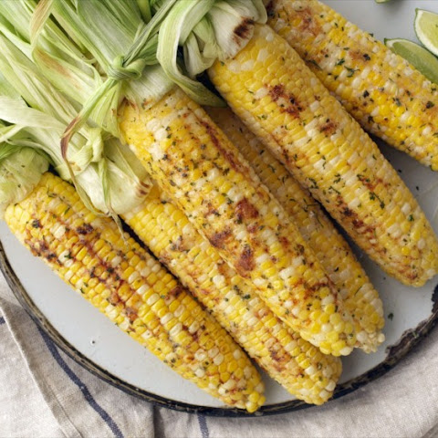 Oven-roasted Ranch Corn on the Cob