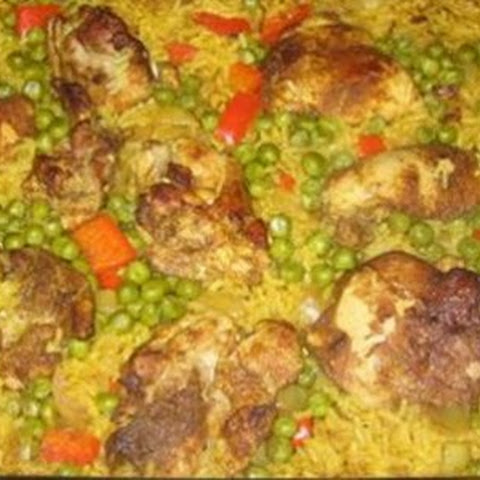 Indian Chicken, Rice, and Spices Bake