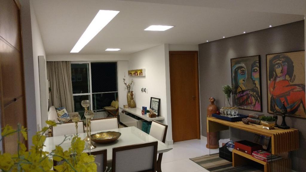 Apartamento com 3 dormitórios à venda, 85 m² por R$ 458.000 - Jardim Oceania - João Pessoa/PB