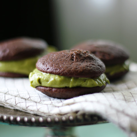 Matcha Chocolate Whoopie Pies