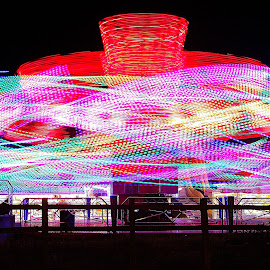 fair ground ride by H Osborne - City,  Street & Park  Amusement Parks (  )
