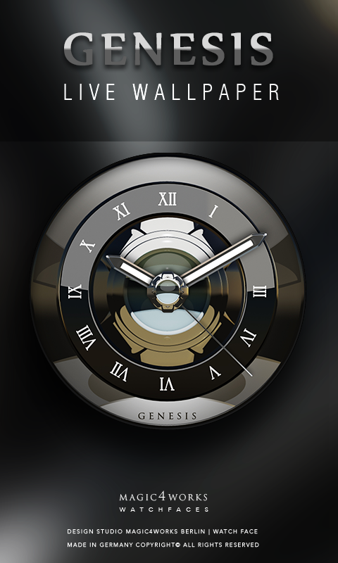 HD Analog Clock Bundle LWP 5 Screenshot 0