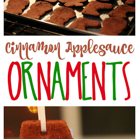 Cinnamon Applesauce Holiday Ornaments