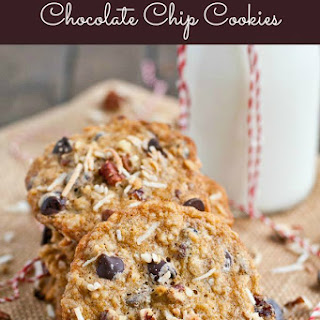 Toasted Pecan Coconut Cherry Chocolate Chip Cookies