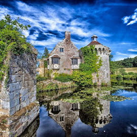 Scotney Castle by Karl Collins - Buildings & Architecture Public & Historical ( colour, water, history, home, building, moat, castle, architecture )