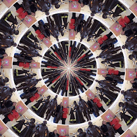 kaleidoscope  by Sandy Stevens Krassinger - Abstract Patterns ( abstract, patterns, colorful, statues, people,  )