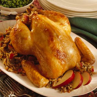 Apple-and-Wild Rice-Stuffed Chicken
