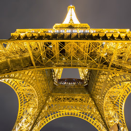Eiffel Tower by Isa 'Gunners' - Buildings & Architecture Architectural Detail ( eiffel tower, night photography, cityscape, architecture, nightscape )
