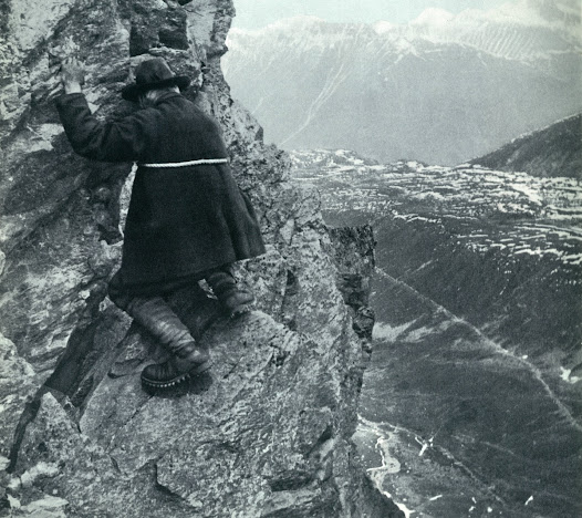 Ernest Solvay, now over 80, on one of his last alpine ascents. © Solvay Heritage Collection.