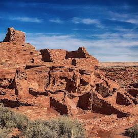 Wupatki Pueblo by Richard Michael Lingo - Buildings & Architecture Public & Historical ( wupatki national monument, pueblo, arizona, historic, abandoned, buidlings )