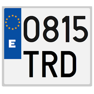 Spanish license plates - date Icon