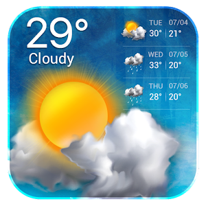 Clear Sky Weather Widget For PC