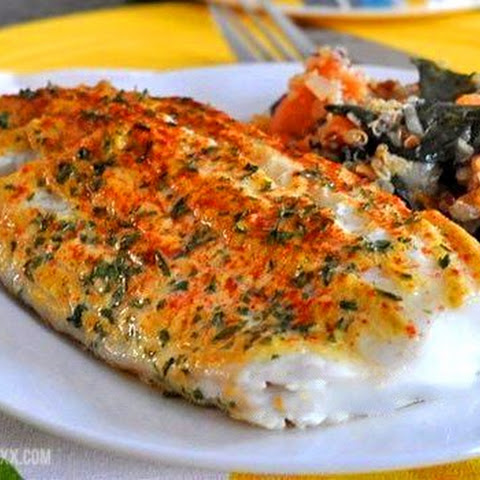 Fish Fillet Gratinated With Mustard