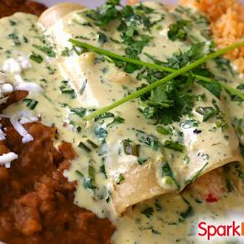 Skinny Sour Cream & Chicken Enchiladas