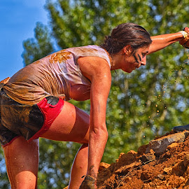 Thanks For The Help by Marco Bertamé - Sports & Fitness Other Sports ( amnéville, the mudday, woman, lady, france )