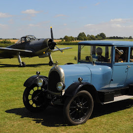Blue Bean by DJ Cockburn - Transportation Automobiles ( bedforshire, piston provost, piston engine, bean car, automobile, hunting (percival) provost, xf603, shuttleworth collection, trainer, england, bean car club, monoplane, royal air force, airfield, propeller, vintage, airplane, aeroplane, bean model 3, biggleswade, museum, kl 737, aircraft, old warden, blue car, raf, antique, alvis leonides, britain )