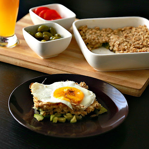 Easy Healthy Casserole with a Fried Egg